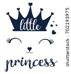 little princess slogan vector... | Shutterstock .eps vector #702193975