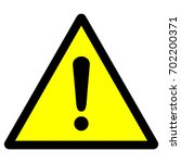 warning sign with exclamation... | Shutterstock .eps vector #702200371