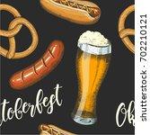 oktoberfest celebration... | Shutterstock .eps vector #702210121