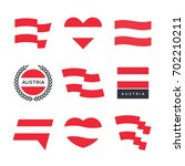 austria flag vector icons and... | Shutterstock .eps vector #702210211