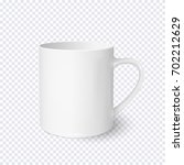 white coffee cup realistic... | Shutterstock .eps vector #702212629