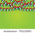 garland uae flags with green... | Shutterstock .eps vector #702213091