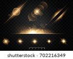 set. shining star  the sun... | Shutterstock .eps vector #702216349