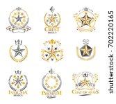 stars emblems set. heraldic... | Shutterstock . vector #702220165