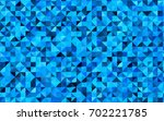 light blue vector triangle... | Shutterstock .eps vector #702221785