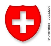 medical shield with cross over... | Shutterstock . vector #70222207