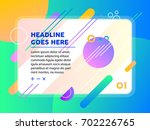 modern colorful website page... | Shutterstock .eps vector #702226765