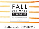 sale promotion web banner with... | Shutterstock .eps vector #702232915