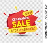 clearance sale and cashback... | Shutterstock .eps vector #702234169
