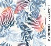 seamless tropical vector... | Shutterstock .eps vector #702239947