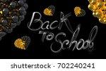 back to school words lettering... | Shutterstock . vector #702240241
