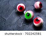 funny halloween treat   jelly... | Shutterstock . vector #702242581