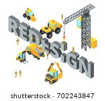 concept illustration with big... | Shutterstock .eps vector #702243847
