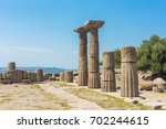 ruins of the temple of athena... | Shutterstock . vector #702244615