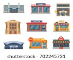 shops and municipal buildings ... | Shutterstock .eps vector #702245731