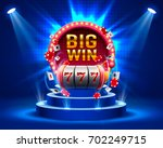 big win slots 777 banner casino.... | Shutterstock .eps vector #702249715
