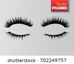 lashes isolated on transparent... | Shutterstock .eps vector #702249757