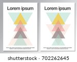 abstract triangle geometrical...   Shutterstock .eps vector #702262645
