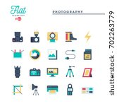 photography  equipment  post... | Shutterstock .eps vector #702263779