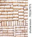 cork stoppers background  ... | Shutterstock . vector #702267571