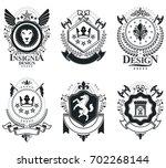 heraldic coat of arms...   Shutterstock . vector #702268144