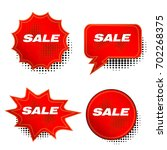 red price sale tags stickers... | Shutterstock .eps vector #702268375