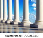 aerial ancient columns in the... | Shutterstock . vector #70226881