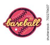 emblem of baseball team.... | Shutterstock .eps vector #702270637