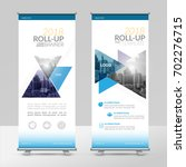 business roll up design... | Shutterstock .eps vector #702276715
