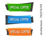 special offer sale banner for... | Shutterstock .eps vector #702276745