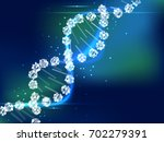 abstract science biology ... | Shutterstock .eps vector #702279391
