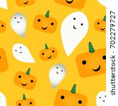 seamless cute pattern with... | Shutterstock .eps vector #702279727