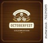 oktoberfest beer festival... | Shutterstock .eps vector #702293095