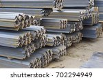 metal profile angle in packs at ... | Shutterstock . vector #702294949
