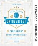 oktoberfest beer festival... | Shutterstock .eps vector #702296515