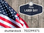 Small photo of Happy Labor Day. USA flag. American holiday