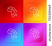 africa map four color gradient...