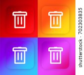 dustbin four color gradient app ...