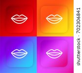 smiling lips four color...