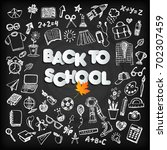 back to school background set... | Shutterstock .eps vector #702307459