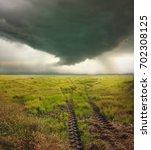 danger heavy storm and dark... | Shutterstock . vector #702308125