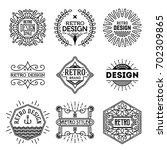 simple mono lines logos... | Shutterstock .eps vector #702309865