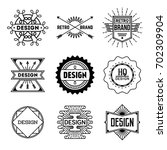 simple mono lines logos... | Shutterstock .eps vector #702309904