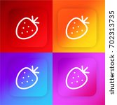 strawberry four color gradient...
