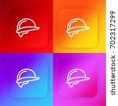 helmet four color gradient app...