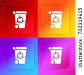 recycle bin four color gradient ...