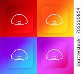 swim cap four color gradient...