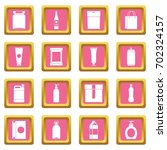 packaging items icons set in... | Shutterstock .eps vector #702324157