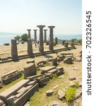 ruins of the temple of athena... | Shutterstock . vector #702326545