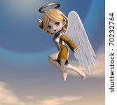 cute cartoon angel with wings... | Shutterstock . vector #70232764